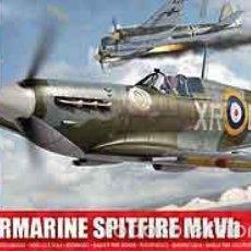 Maquetas: MAQUETA DEL CAZA BRITÁNICO SUPERMARINE SPITFIRE MK VB DE AIRFIX A 1/72. Lote 57243295