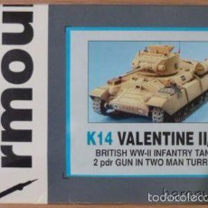 Maquetas: ACCURATE ARMOUR - VALENTINE II/IV K 14 1/35 RESINA Y METAL. Lote 57598107