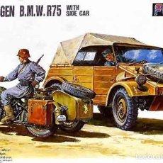 Maquetas: MAQUETA DEL KUBELWAGEN Y MOTO BMW R75 ALEMANES DE FUJIMI A 1/76. Lote 140065468