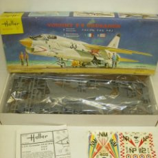 Maquetas: MAQUETA AVIÓN VOUGHT F-8E / E(FN) / 8J CRUSADER 1:72 HELLER AÑOS 80. Lote 57935388