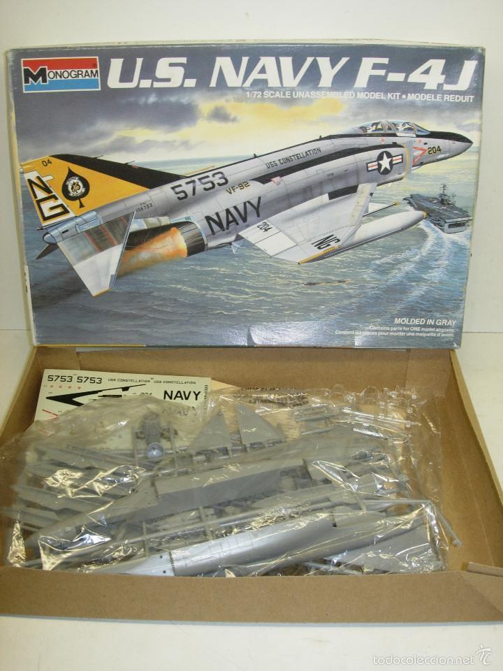 MAQUETA AVIÓN U.S. NAVY F-4J 1:72 MONOGRAM 1985 (Juguetes - Modelismo y Radio Control - Maquetas - Aviones y Helicópteros)