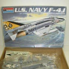 Maquetas: MAQUETA AVIÓN U.S. NAVY F-4J 1:72 MONOGRAM 1985. Lote 57936029