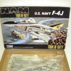 Maquetas: MAQUETA AVIÓN U.S. NAVY F-4J NAM TOUR OF DUTY 1:72 MONOGRAM 1988. Lote 57936097