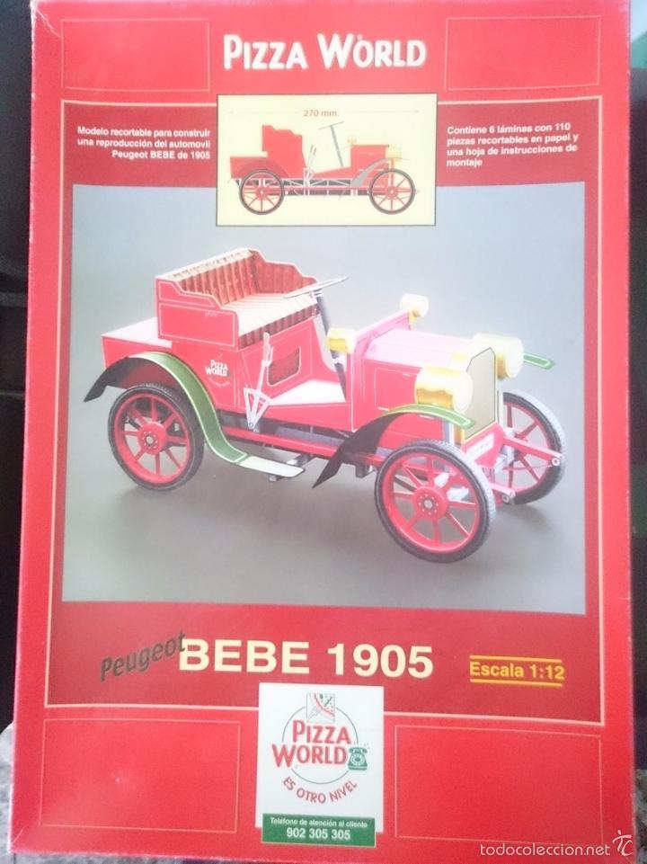 MAQUETA PAPEL PEUGEOT BEBE 1905 ESCALA 1 12 - ESPECIAL PIZZA WORLD -REFM1E3 (Juguetes - Modelismo y Radiocontrol - Maquetas - Coches y Motos)