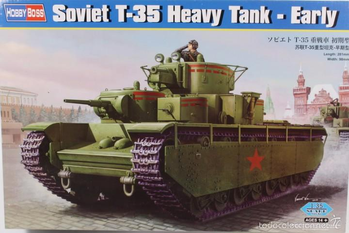 MAQUETA CARRO T-35, HEAVY TANK, EARLY, REF. 83841, 1/35, HOBBY BOSS (Juguetes - Modelismo y Radiocontrol - Maquetas - Militar)