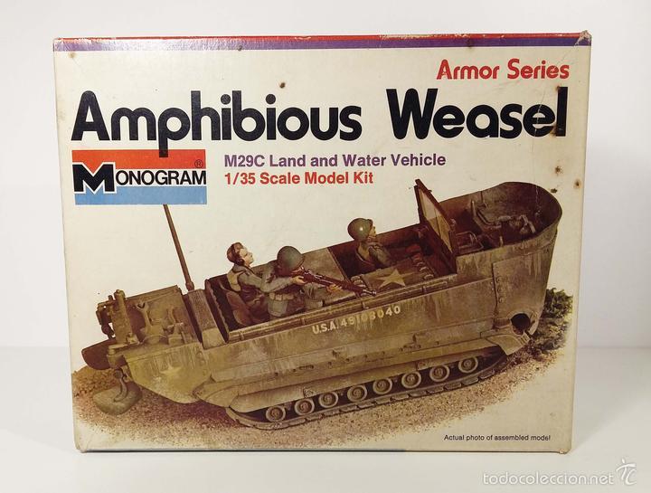 CAJA VACÍA - AMPHIBIOUS WEASEL - MONOGRAM - AÑOS 70 (Juguetes - Modelismo y Radiocontrol - Maquetas - Militar)
