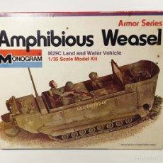 Maquetas: CAJA VACÍA - AMPHIBIOUS WEASEL - MONOGRAM - AÑOS 70. Lote 194140642