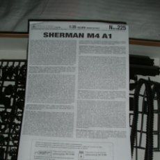 Maquetas: MAQUETA DEL CARRO DE COMBATE SHERMAN, VERSIÓN M4 A1 - ESCALA 1:35 - ITALERI Nº 225. Lote 59214860