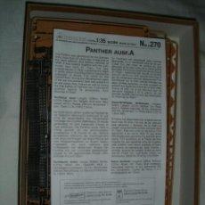 Maquetas: MAQUETA DEL CARRO DE COMBATE ALEMÁN PZKPFW V PANTHER AUSFÜHRUNG A - ESCALA 1:35 . ITALERI Nº 270. Lote 59242730