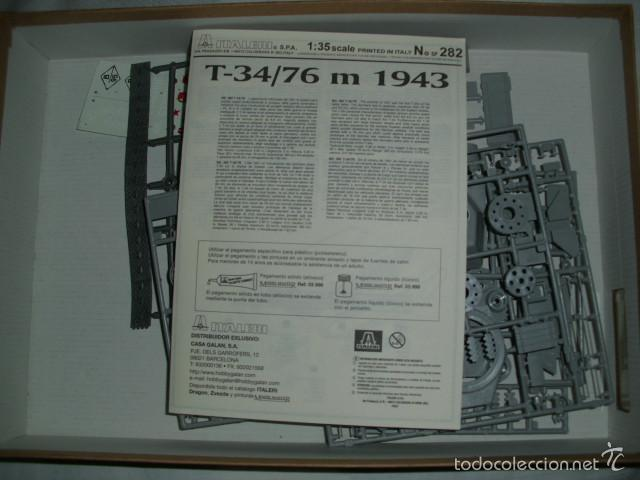 MAQUETA CARRO DE COMBATE SOVIÉTICO T 34/76 DE 1943 . ESCALA 1:35 - ITALERI Nº 282 (Juguetes - Modelismo y Radiocontrol - Maquetas - Militar)