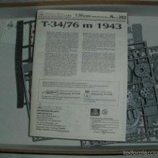 Maquetas: MAQUETA CARRO DE COMBATE SOVIÉTICO T 34/76 DE 1943 . ESCALA 1:35 - ITALERI Nº 282. Lote 59417495
