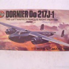 Maquetas: MAQUETA CAZA NOCTURNO DORNIER DO 217-J1 - AIRFIX - MADE IN UK - ESCALA 1:72 - AÑO 1977. Lote 59516967