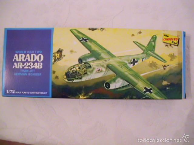 MAQUETA BOMBARDERO ARADO AR 234B - ESCALA 1:72 - LINDBERGH (MADE IN USA) - AÑO 1977 (Juguetes - Modelismo y Radio Control - Maquetas - Aviones y Helicópteros)