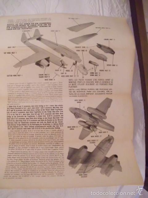 Maquetas: MAQUETA BOMBARDERO ARADO AR 234B - ESCALA 1:72 - LINDBERGH (MADE IN USA) - AÑO 1977 - Foto 7 - 59548235