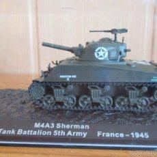 Maquetas: MAQUETA EN METAL CARRO DE COMBATE: M4A3 SHERMAN. Lote 222377272