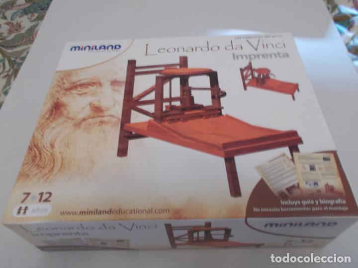 Maquetas: COLECCION DE INVENTOS DE LEONARDO DAVINCI DE LA CASA MINILAND DE ONIL - Foto 3 - 127790524
