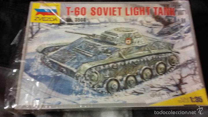T-60 SOVIET LIGHT TANK. ZVEDA 1/35 (Juguetes - Modelismo y Radiocontrol - Maquetas - Militar)