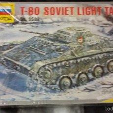 Maquetas: T-60 SOVIET LIGHT TANK. ZVEDA 1/35. Lote 63192872