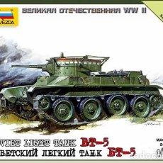 Maquetas: MAQUETA DEL CARRO DE COMBATE LIGERO SOVIÉTICO BT-5 (2ª GUERRA MUNDIAL) DE ZVEZDA A 1/100. Lote 64366015