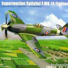 Maquetas: MAQUETA DEL CAZA BRITÁNICO SUPERMARINE SPITEFUL F.MK XIV DE TRUMPETER A 1/48. Lote 65951074