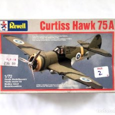 Maquetas: CURTISS HAWK 75A CU-670 AVIÓN DE CAZA MODELO 75 P-36 COMMONWEALTH MOHAWK CURTISS-WRIGHT REVELL 1/72. Lote 67065058