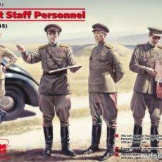 Maquetas: SOVIET STAFF PERSONNEL 1/35 ICM. Lote 68946521