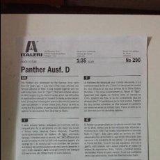 Maquetas: INSTRUCCIONES PANTHER AUSF D. ITALERI 1/35. Lote 69076317