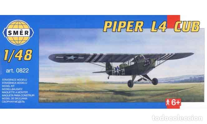 MAQUETA DE LA AVIONETA DE OBSERVACIÓN PIPER L4 CUB/GRASSHOPPER DE SMER A 1/48 (Juguetes - Modelismo y Radio Control - Maquetas - Aviones y Helicópteros)