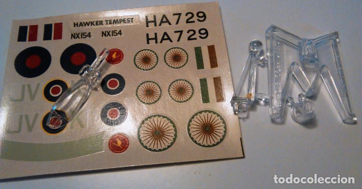 Maquetas: Maqueta del Hawker Tempest avión combate de la Segunda guerra mundial.A escala 1:72.1974.Matchbox. - Foto 4 - 70478553