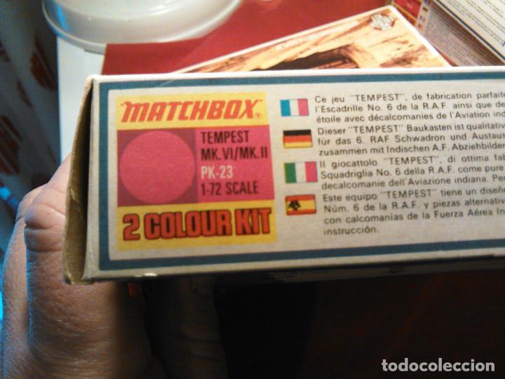Maquetas: Maqueta del Hawker Tempest avión combate de la Segunda guerra mundial.A escala 1:72.1974.Matchbox. - Foto 5 - 70478553