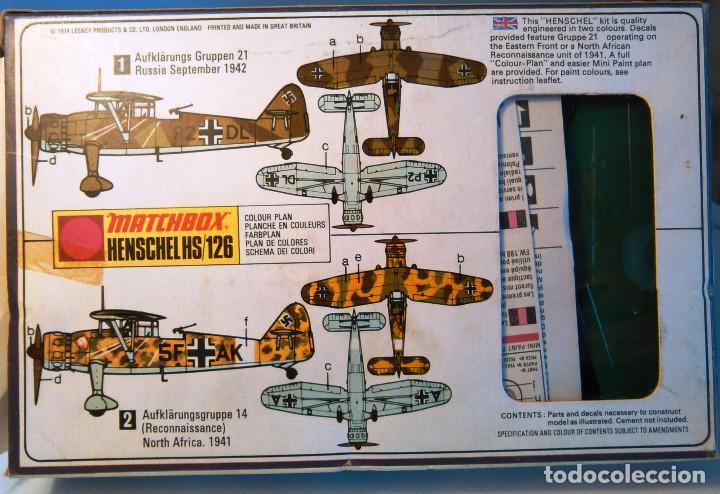 Maquetas: Maqueta del avión biplano Henschel HS/126 a escala 1:72. Matchbox,PK-26.1974.Aeromodelismo militar. - Foto 2 - 70483409