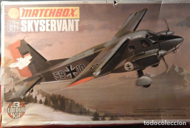 MAQUETA DEL AVIÓN ALEMÁN SKYSERVANT A ESCALA 1:72, MATCHBOX SCALE KIT PK-107. 1973. LESNEY PRODUCTS. (Juguetes - Modelismo y Radio Control - Maquetas - Aviones y Helicópteros)