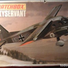 Maquetas: MAQUETA DEL AVIÓN ALEMÁN SKYSERVANT A ESCALA 1:72, MATCHBOX SCALE KIT PK-107. 1973. LESNEY PRODUCTS.. Lote 70494101