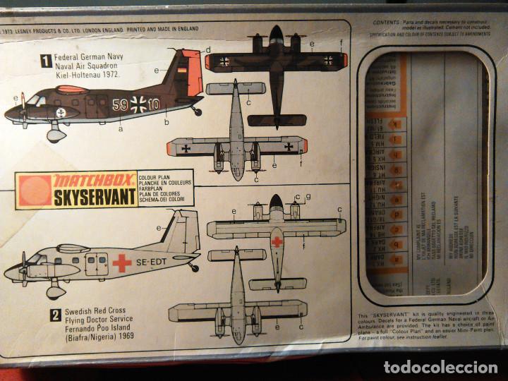 Maquetas: Maqueta del avión alemán Skyservant a escala 1:72, Matchbox Scale Kit PK-107. 1973. Lesney Products. - Foto 2 - 70494101