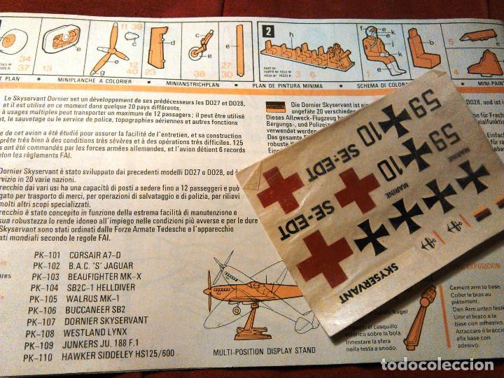 Maquetas: Maqueta del avión alemán Skyservant a escala 1:72, Matchbox Scale Kit PK-107. 1973. Lesney Products. - Foto 7 - 70494101