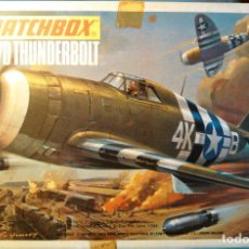 Maquetas: MAQUETA DEL AVIÓN P47D THUNDEBOLT US AIR FORCE. 1:72,MATCHBOX SCALE KIT PK-11.1974.LESNEY PRODUCTS.. Lote 70511269