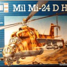 Maquetas: MAQUETA DEL HELICÓPTERO DE COMBATE MIL MI-24 D HIND A ESCALA 1:100 DE REVELL. 1990. MILITAR. 18,5CM.. Lote 70568469