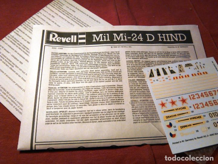 Maquetas: Maqueta del helicóptero de combate Mil Mi-24 D Hind a escala 1:100 de Revell. 1990. Militar. 18,5cm. - Foto 4 - 70568469