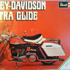 Maquetas: MAQUETA ANTIGUA DE LA MOTOCICLETA HARLEY-DAVIDSON ELECTRA GLIDE A ESCALA 1:8. REVELL, H-1224. 27CM.. Lote 70569845