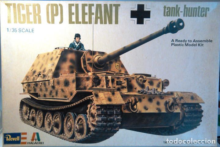 MAQUETA DEL TANQUE TIGER P ELEFANT TANK-HUNTER A ESCALA 1:35.REVELL,KIT Nº 211.FERNINAND.SD-KFZ 184S (Juguetes - Modelismo y Radiocontrol - Maquetas - Militar)
