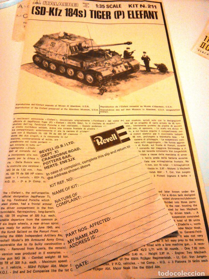 Maquetas: Maqueta del Tanque Tiger P Elefant Tank-Hunter a escala 1:35.Revell,Kit nº 211.Ferninand.SD-Kfz 184s - Foto 6 - 70993061