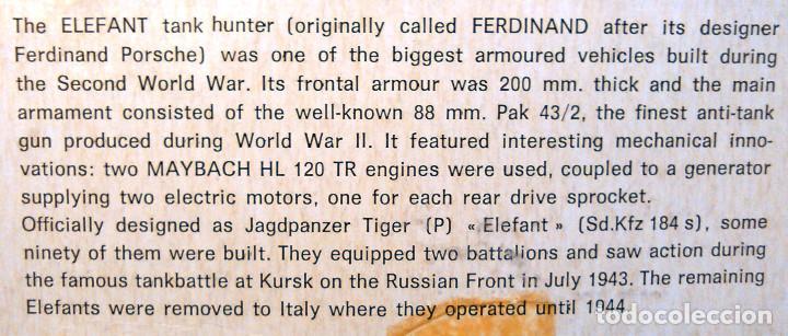 Maquetas: Maqueta del Tanque Tiger P Elefant Tank-Hunter a escala 1:35.Revell,Kit nº 211.Ferninand.SD-Kfz 184s - Foto 7 - 70993061