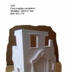 Maquetas: WWII CASA ESQUINA PILARES RUINAS 1/35 PARA DIORAMA. Lote 71516931