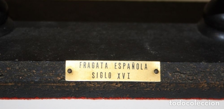Maquetas: MAQUETA DE BARCO. MADERA. BOAT-ART. FRAGATA ESPAÑOLA SIGLO XVI. ESPAÑA. CIRCA 1950 - Foto 3 - 72113983