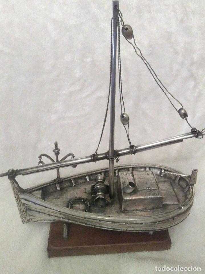 IMPRESIONANTE Y ANTIGUA MAQUETA FIRMADA LLAUT BARCO PESCA 43 CM ESLORA X MANGA BAÑO PLATA 520,00EU (Juguetes - Modelismo y Radiocontrol - Maquetas - Barcos)