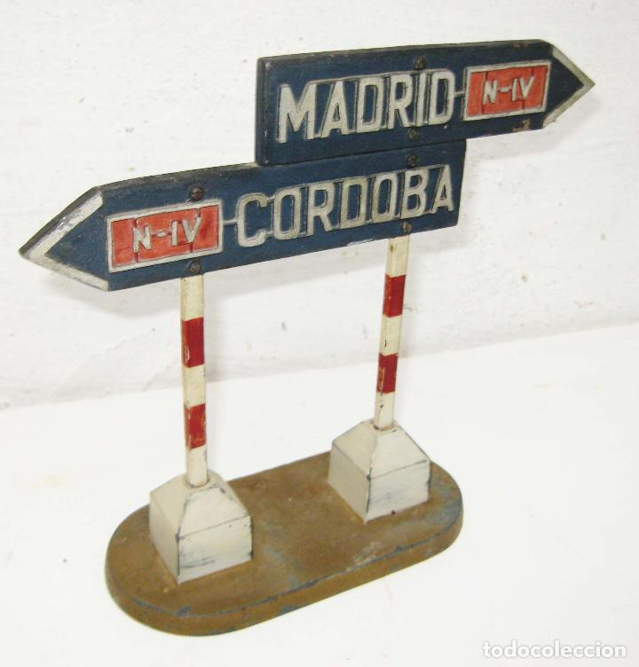Maquetas: ESPECTACULAR MAQUETA ORIGINAL 1943 EXPOSICION OBRAS PUBLICAS TETUAN MADRID CORDOBA N-IV ARTE METAL - Foto 2 - 74084167