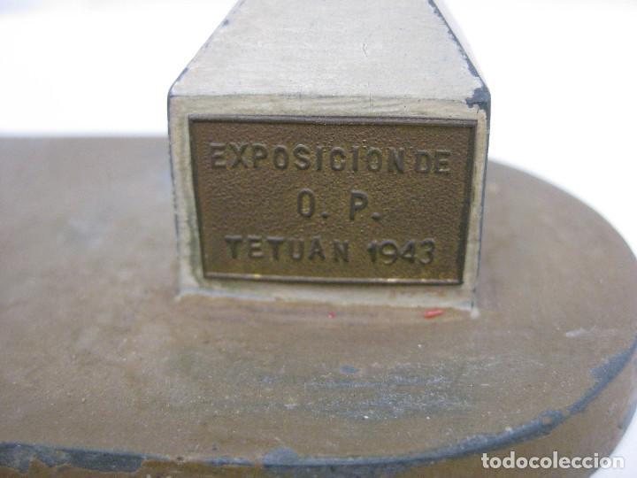 Maquetas: ESPECTACULAR MAQUETA ORIGINAL 1943 EXPOSICION OBRAS PUBLICAS TETUAN MADRID CORDOBA N-IV ARTE METAL - Foto 5 - 74084167