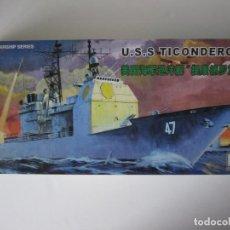 Maquetas: MAQUETA BARCO – USS TICONDEROGAESCALA 1 / 350 MARCA MINI HOBBY MODELS. Lote 74894159