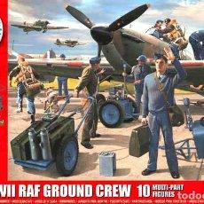 Maquetas: CAJA CON PERSONAL DE TIERRA DE LA RAF 2ª GUERRA MUNDIAL DE AIRFIX A ESCALA 1/48. Lote 75029963