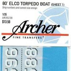 Macchiette: ARCHER-AR35238 1/35 80 ELCO TORPEDO BOAT (SHEET 1). Lote 75425139